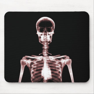 X-Ray Vision Red Single Skeleton Mouse Pad