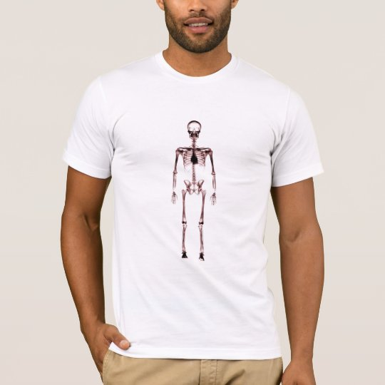 X-Ray Vision Single Skeleton White Red T-Shirt
