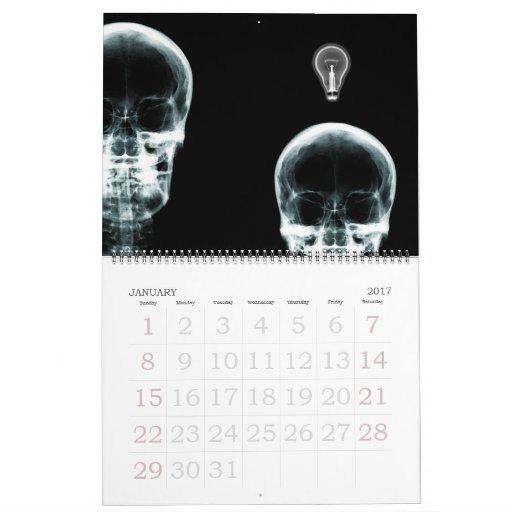 X Ray Calendar : X ray vision skeleton calendar zazzle
