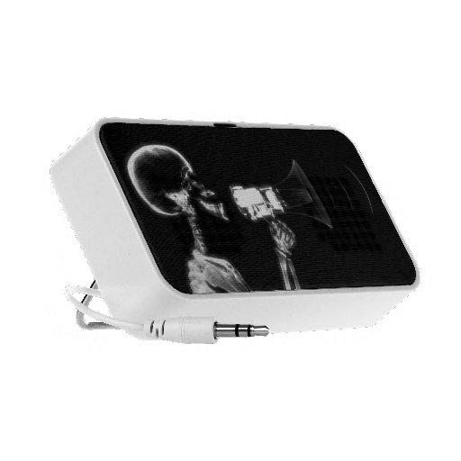 X-RAY VISION SKELETON ON MEGAPHONE - B&W PORTABLE SPEAKER