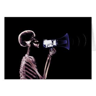 X-RAY VISION SKELETON ON MEGAPHONE - ORIGINAL CARD