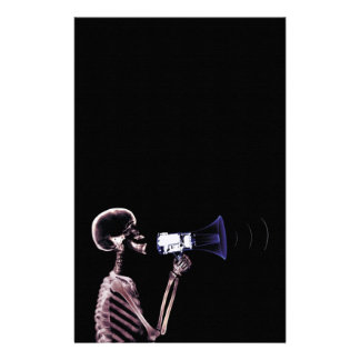 X-RAY VISION SKELETON ON MEGAPHONE - ORIGINAL STATIONERY