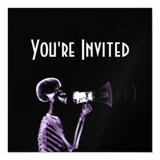 X-RAY VISION SKELETON ON MEGAPHONE - PURPLE CARD