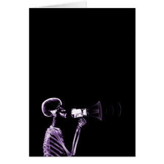 X-RAY VISION SKELETON ON MEGAPHONE - PURPLE CARD