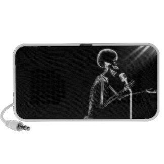 X-RAY VISION SKELETON SINGING ON RETRO MIC - B&W iPhone SPEAKER