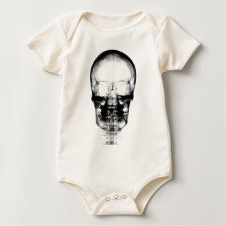 X-RAY VISION SKELETON SKULL - B&W BABY BODYSUIT