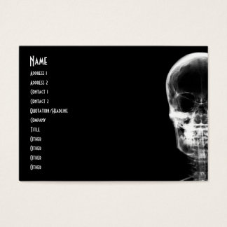 X-RAY VISION SKELETON SKULL - B&W BUSINESS CARD