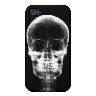 X-RAY VISION SKELETON SKULL - B&W iPhone 4 COVERS