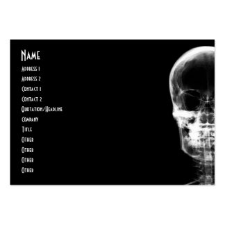 X-RAY VISION SKELETON SKULL - B&W LARGE BUSINESS CARD