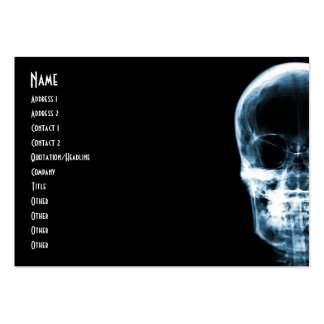X-RAY VISION SKELETON SKULL - BLUE LARGE BUSINESS CARDS (Pack OF 100)