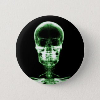X-RAY VISION SKELETON SKULL - GREEN BUTTON