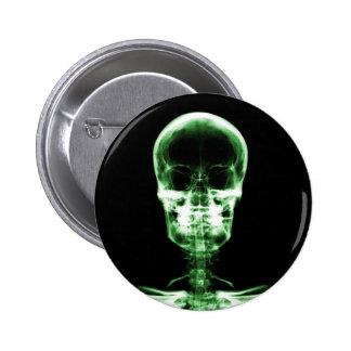 X-RAY VISION SKELETON SKULL - GREEN BUTTON