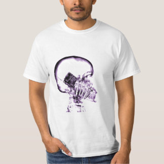 X-RAY VISION SKELETON SKULL ON PHONE - PURPLE T-Shirt