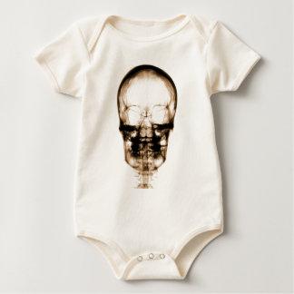 X-RAY VISION SKELETON SKULL - ORANGE BABY BODYSUIT