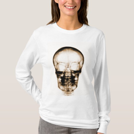 X-RAY VISION SKELETON SKULL - ORANGE T-Shirt