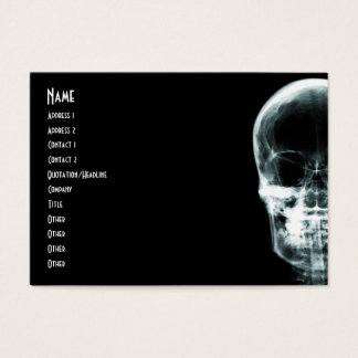X-RAY VISION SKELETON SKULL - ORIGINAL BUSINESS CARD