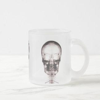 X-RAY VISION SKELETON SKULL - ORIGINAL FROSTED GLASS COFFEE MUG