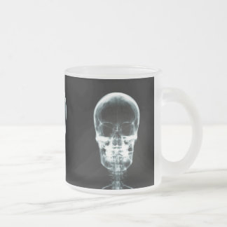 X-RAY VISION SKELETON SKULL - ORIGINAL FROSTED GLASS COFFEE MUG