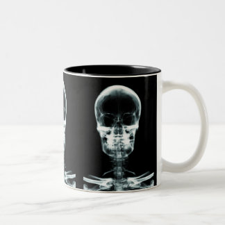 X-RAY VISION SKELETON SKULL - ORIGINAL Two-Tone COFFEE MUG
