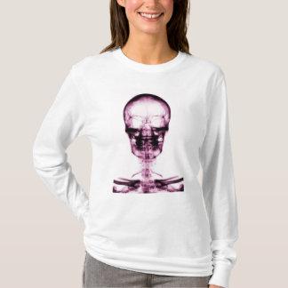 X-RAY VISION SKELETON SKULL - PINK T-Shirt