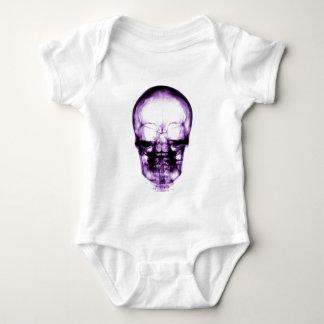 X-RAY VISION SKELETON SKULL - PURPLE BABY BODYSUIT