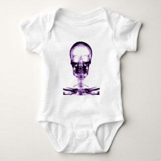 X-RAY VISION SKELETON SKULL PURPLE BABY BODYSUIT
