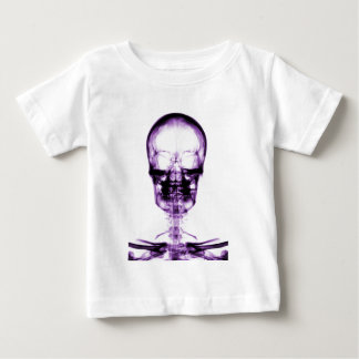 X-RAY VISION SKELETON SKULL PURPLE BABY T-Shirt