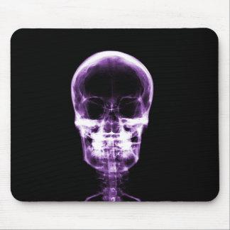 X-RAY VISION SKELETON SKULL - PURPLE MOUSE PAD