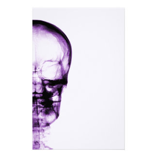 X-RAY VISION SKELETON SKULL - PURPLE STATIONERY