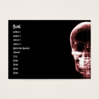 X-RAY VISION SKELETON SKULL - RED BUSINESS CARD