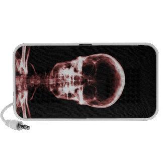 X-RAY VISION SKELETON SKULL - RED iPhone SPEAKERS