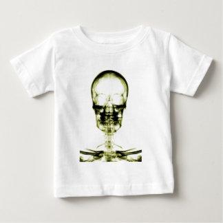 X-RAY VISION SKELETON SKULL - YELLOW BABY T-Shirt