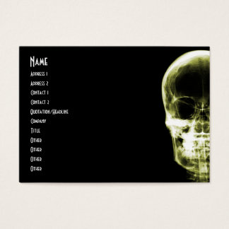 X-RAY VISION SKELETON SKULL - YELLOW BUSINESS CARD