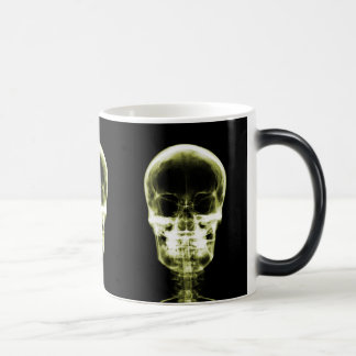 X-RAY VISION SKELETON SKULL - YELLOW MAGIC MUG