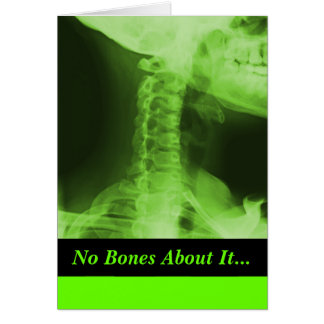 X-rayed 2 - Radioactive Green Greeting Card