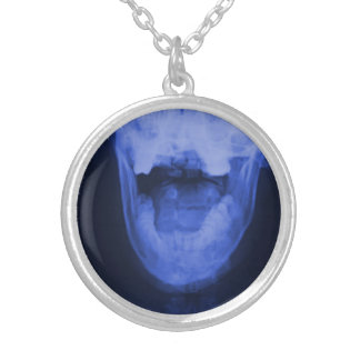 X-rayed 3 - Electromagnetic Blue Silver Plated Necklace