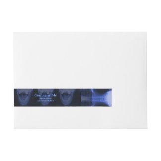 X-Rayed 3 - Electromagnetic Blue Wrap Around Address Label