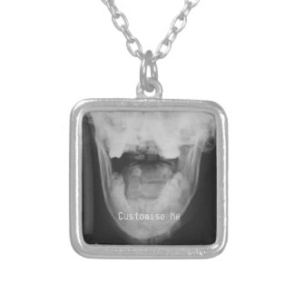 X-Rayed 3 (Original) Silver Plated Necklace