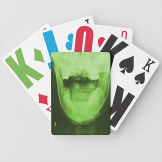 X-rayed 3 - Radioactive Green Bicycle Playing Cards