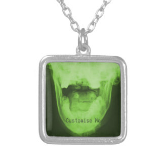 X-Rayed 3 - Radioactive Green Silver Plated Necklace