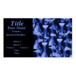 X-rayed - Electromagnetic Blue Double-Sided Standard Business Cards (Pack Of 100)