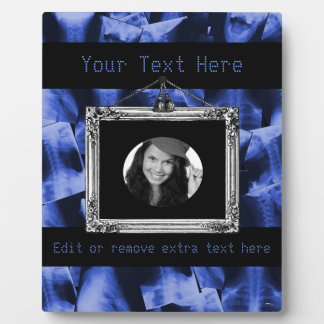 X-rayed - Electromagnetic Blue Photo Plaque