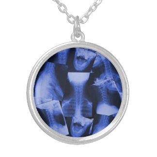 X-rayed - Electromagnetic Blue Silver Plated Necklace