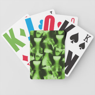 X-rayed - Radioactive Green Bicycle Playing Cards