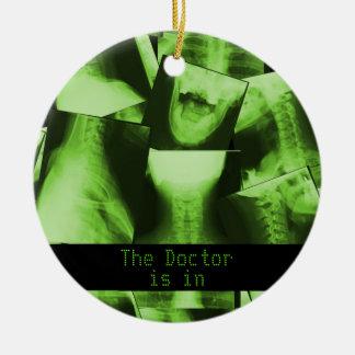X-rayed - Radioactive Green Ceramic Ornament