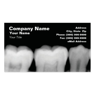 X-Rays of Teeth Business Cards