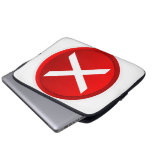 X rojo - Ningún - símbolo Funda Ordendadores