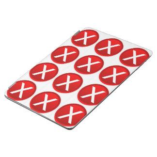 X rojo - Ningún/símbolo incorrecto Cubierta De iPad Air