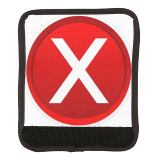 X rojo - Ningún/símbolo incorrecto Funda Para Asa De Maleta