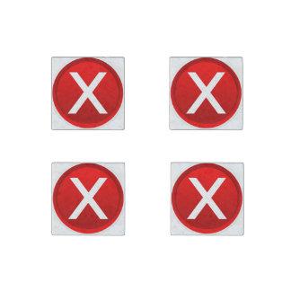 X rojo - Ningún/símbolo incorrecto Imán De Piedra